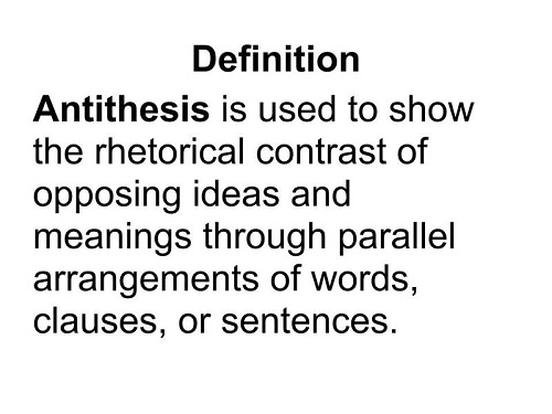 Just what exactly is Antithesis