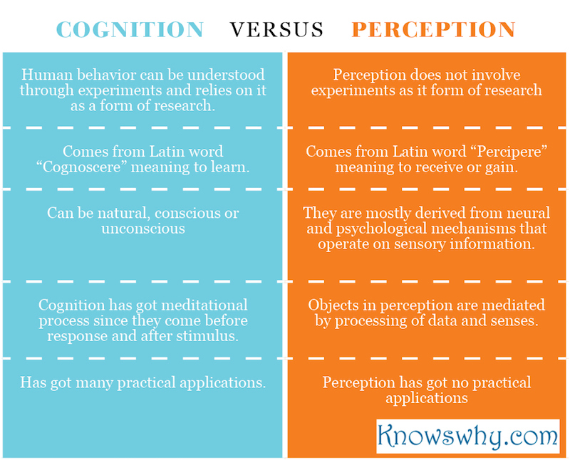 Cognition VERSUS Perception
